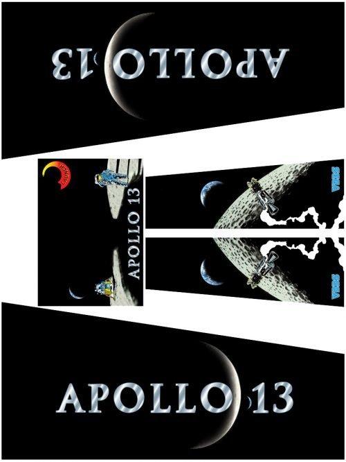 SEGA Apollo 13 Pinball Machine Cabinet Decals Flipper