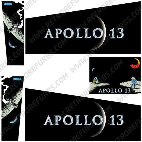 Apollo 13 Pinball Cabinet Decals Flipper Side Art Sega Original