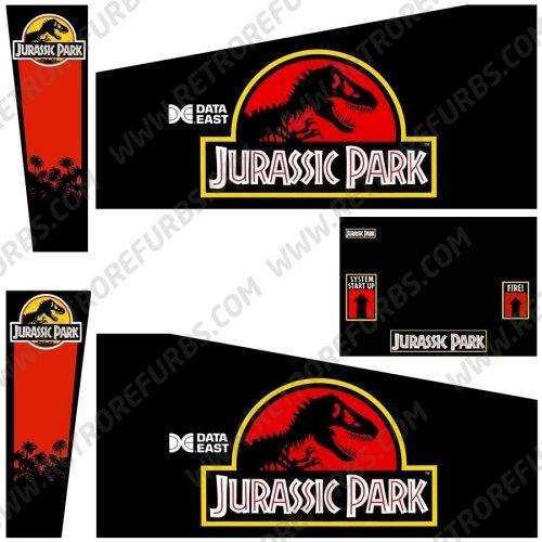 Jurassic Park Pinball Cabinet Decals Flipper Side Art Data East Original