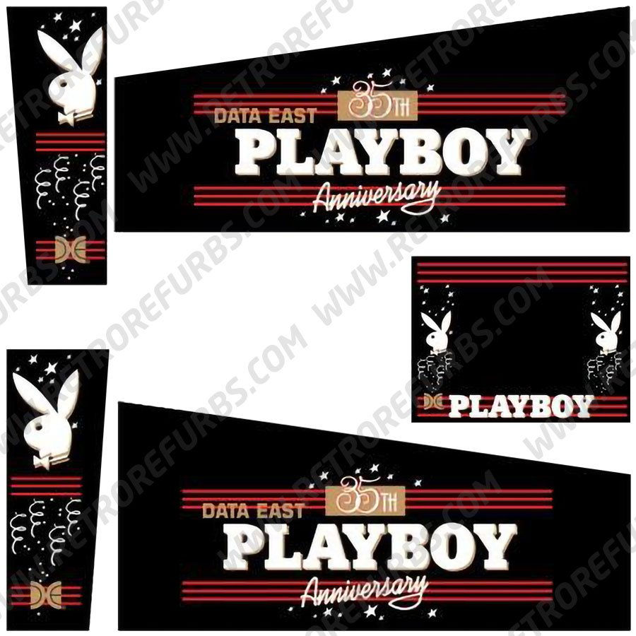 Playboy 35th Anniversary Pinball Cabinet Decals Flipper Side Art Data East Original
