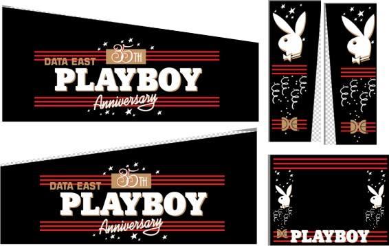 Data East Playboy Pinball Decals