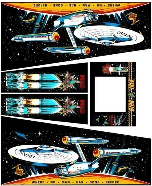 Data East Star Trek Pinball Cabinet Decals