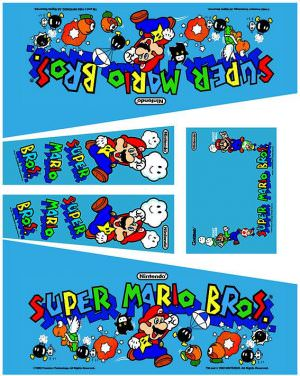 Gottlieb Super Mario Bros Pinball Cabinet Decals