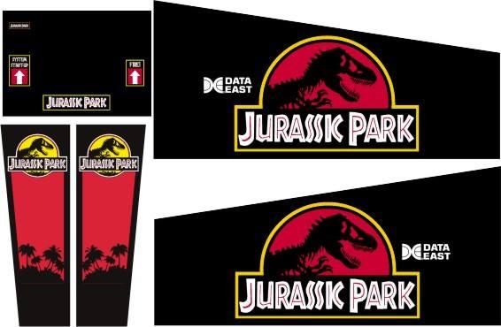 Jurassic Park Pinball Cabinet Decals