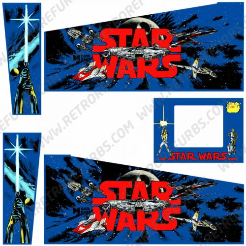 Star Wars Data East Pinball Cabinet Decals Flipper Side Art