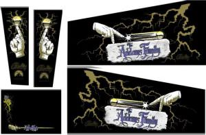 Addams Family Gold Pinball Cabinet Decals