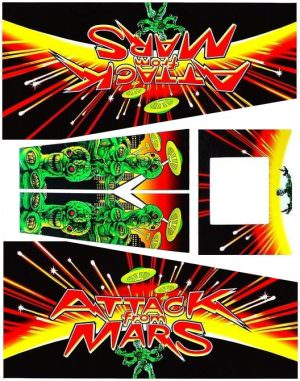 Attack From Mars Pinball Decals Flipper