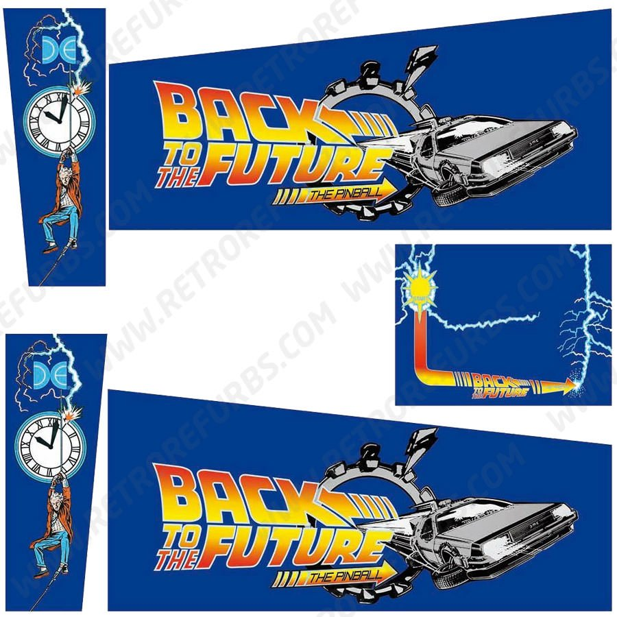 Back To The Future Pinball Cabinet Decals Flipper Side Art