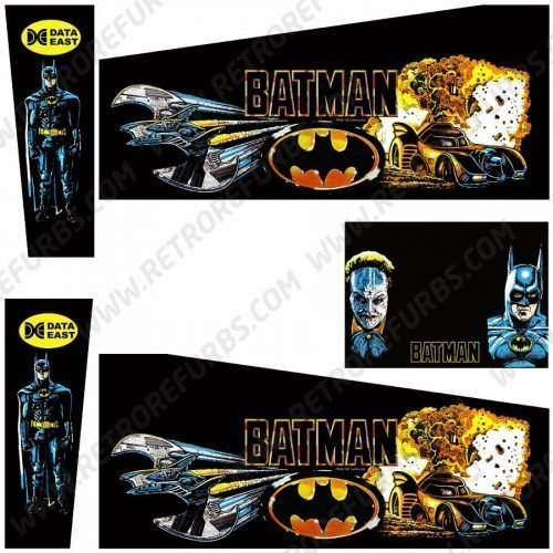 Batman Data East Pinball Cabinet Decals Flipper Side Art