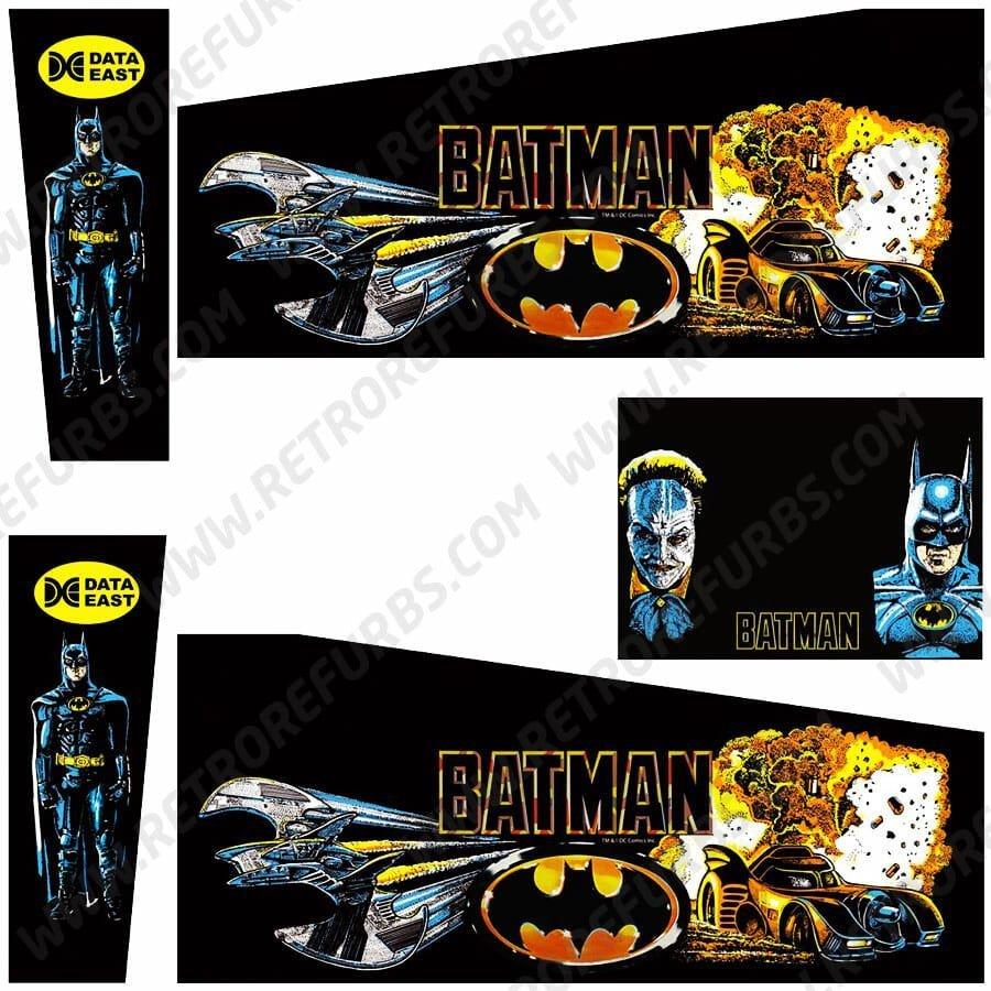 Batman Data East Pinball Cabinet Decals Flipper Side Art