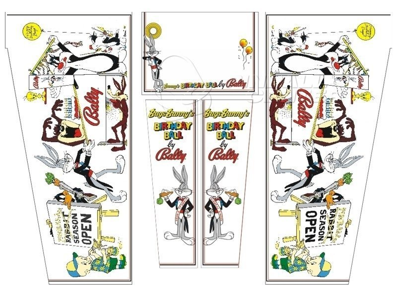 Bugs Bunny Pinball Cabinet Decals