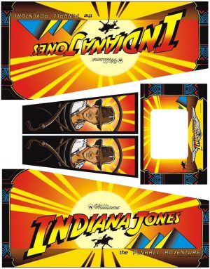 Indiana Jones Pinball Cabinet Decals Flipper Side Art
