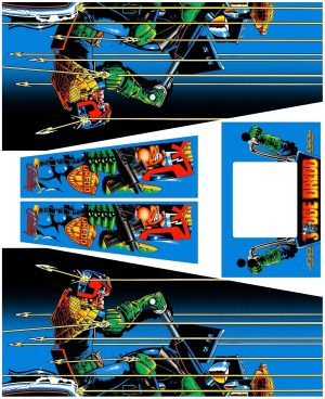 Judge Dredd Pinball Cabinet Decals Flipper Side Art