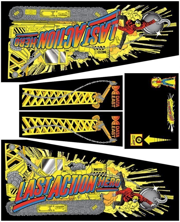 Last Action Hero Pinball Cabinet Decals Flipper