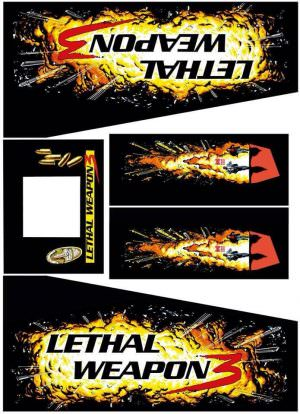 Lethal Weapon 3 Pinball Cabinet Decals Black