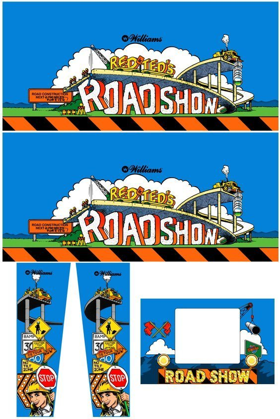 Road Show Pinball Cabinet Decals