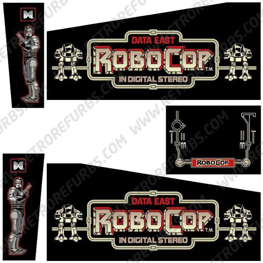 Robocop Pinball Cabinet Decals Flipper Side Art Data East Original