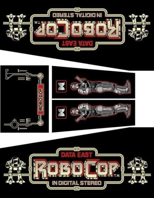RoboCop Pinball Cabinet Decals