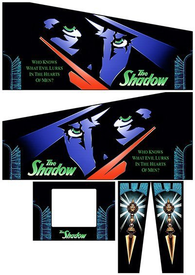 The Shadow Pinball Cabinet Decals