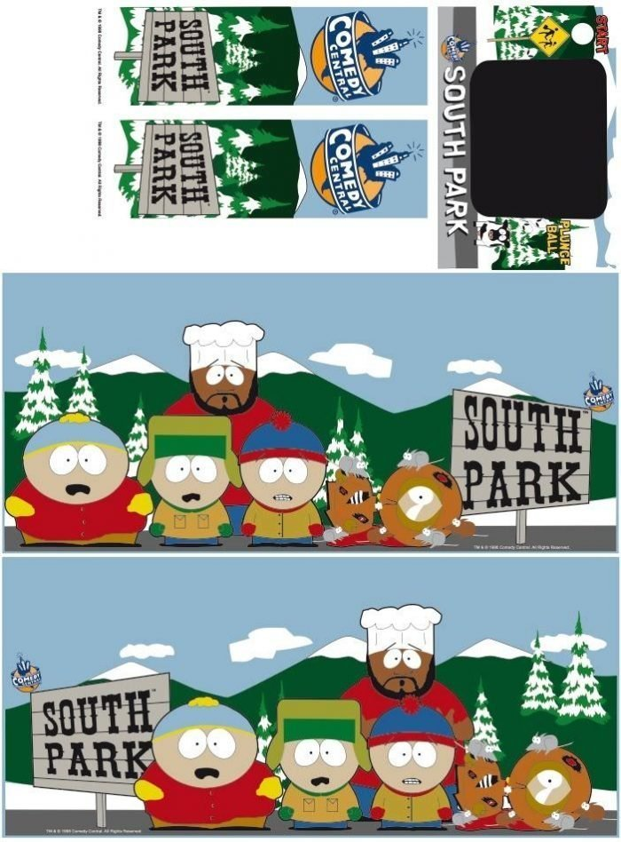 South Park Pinball Cabinet Decals