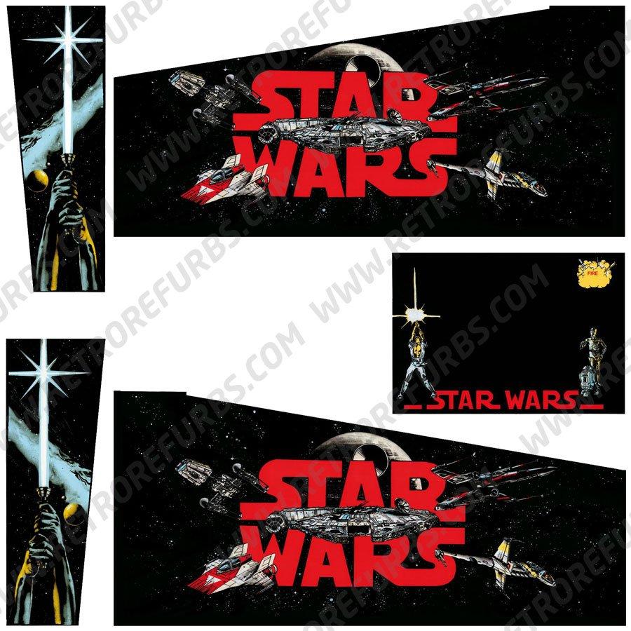 Star Wars Black Edition Pinball Cabinet Decals Flipper Side Art Data East Alternate Alternative Decals