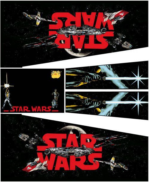 Star Wars Black Pinball Cabinet Decals Flipper