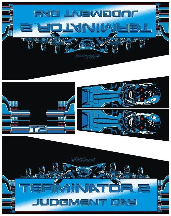 Terminator 2 Pinball Cabinet Decals