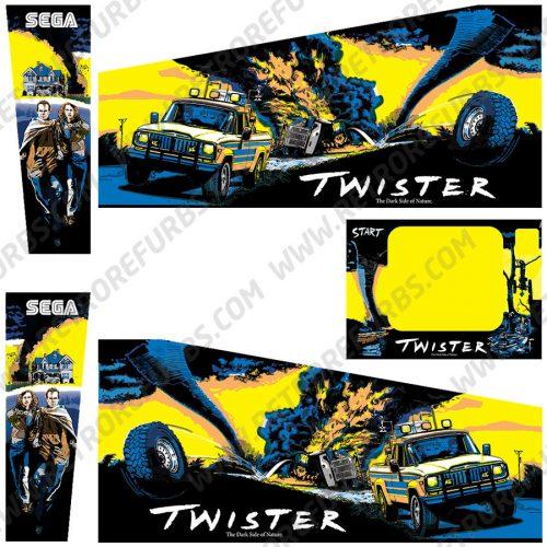 Twister Pinball Cabinet Decals Flipper Side Art Sega Original