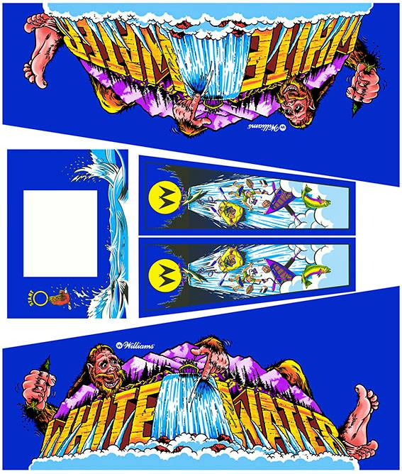 White Water Pinball Cabinet Decals