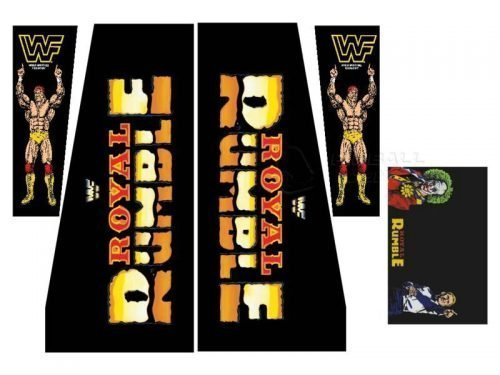 WWF Royal Rumble Pinball Decals 1