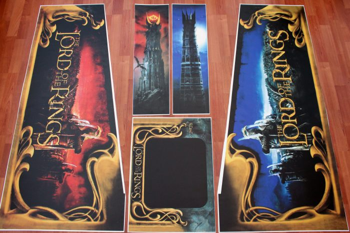 Lord of The Rings Flipper Pinball Decals