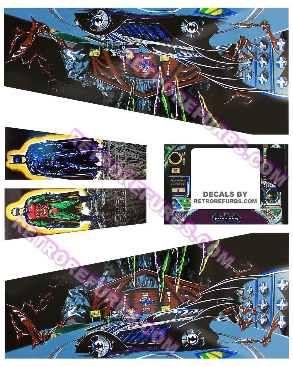 Batman Forever - SEGA Pinball Cabinet Decals - Retro Refurbs