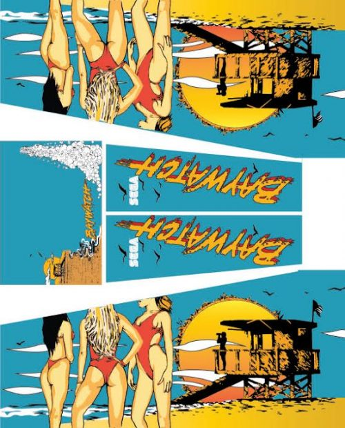 Baywatch Pinball Cabinet Decals