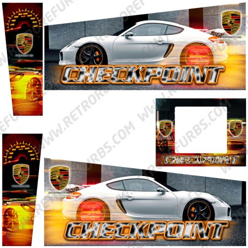 Checkpoint HD Edition Porsche Alternative Pinball Cabinet Decals Flipper Side Art