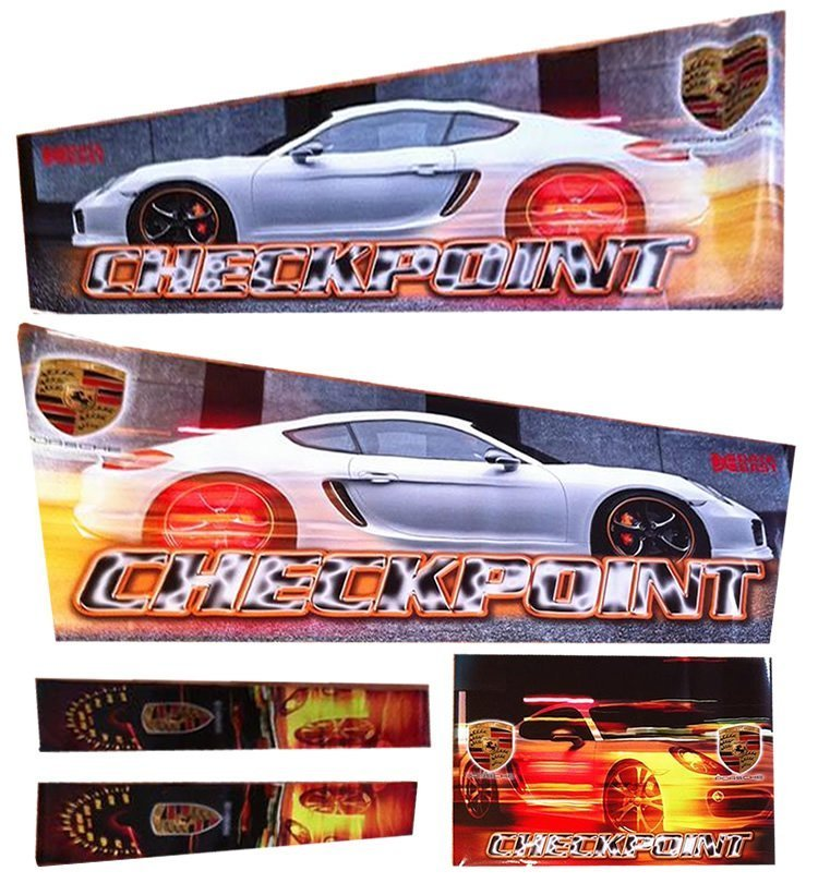 Checkpoint HD Alternative Pinball Cabinet Decals