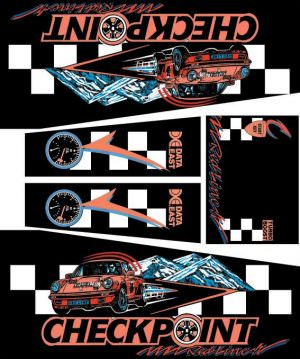 Checkpoint Pinball Cabinet Decals