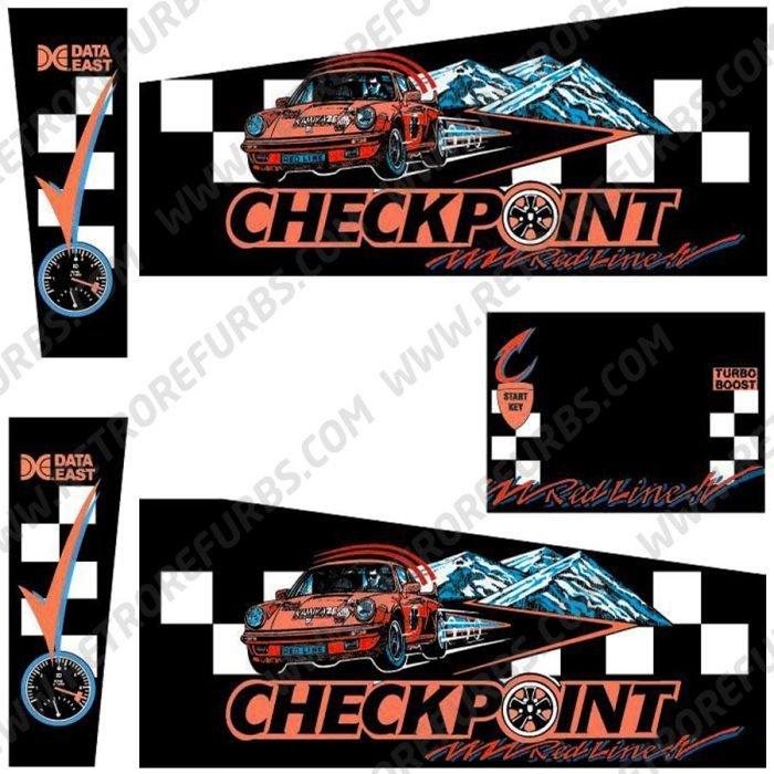 Checkpoint Pinball Cabinet Decals Flipper Side Art Data East Original