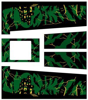 Haunted House Pinball Cabinet Decals