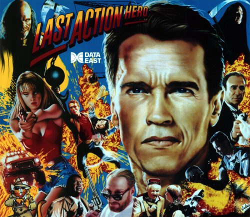 Last Action Hero Pinball Translite