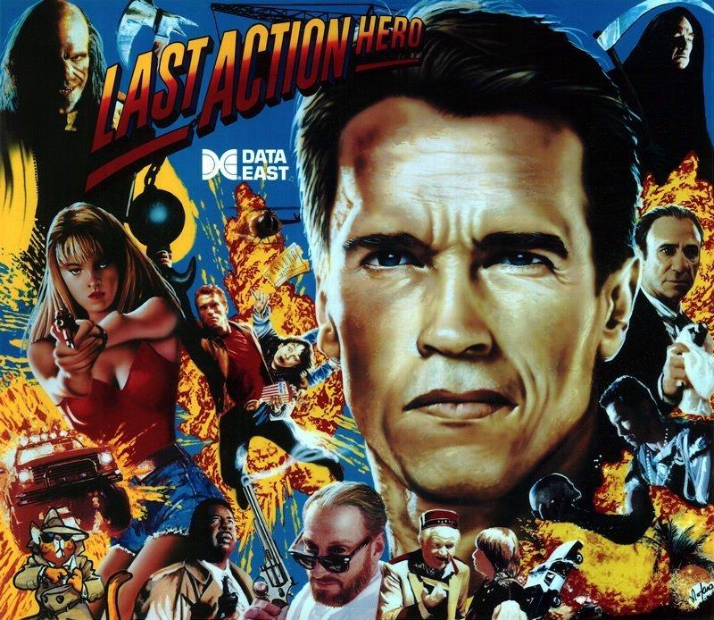 Last Action Hero Pinball Translite