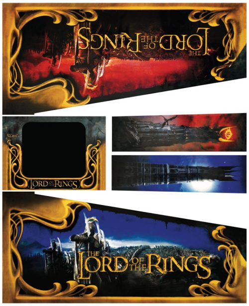 Lord of The Rings Pinball Cabinet Decals