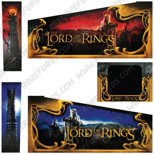 Lord of the Rings Pinball Cabinet Decals Flipper Side Art Original Stern
