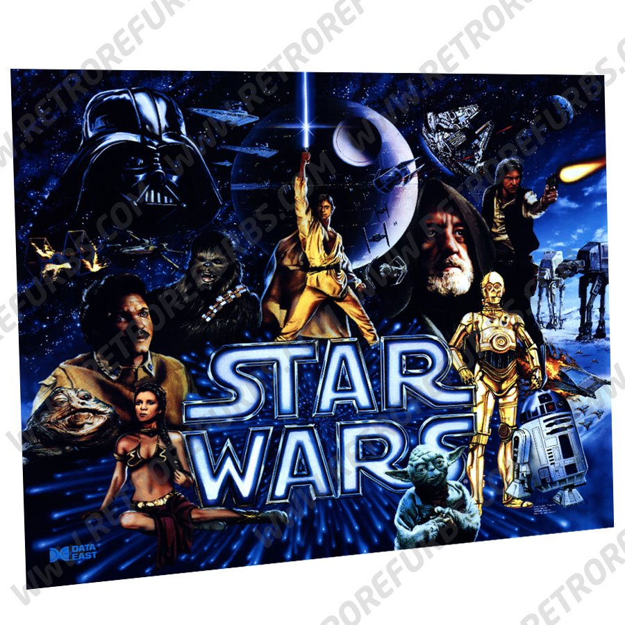 Star Wars Data East Pinball Translite Original Design Flipper Backglass