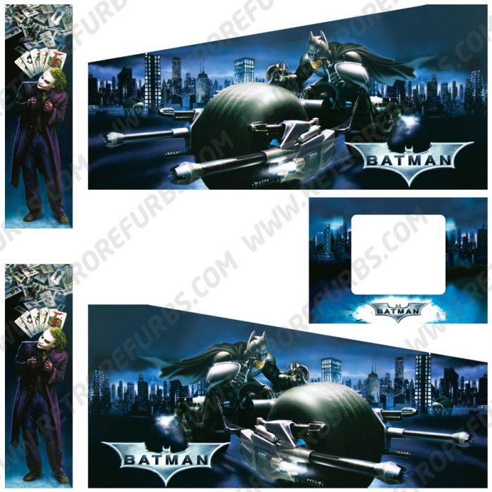 Batman The Dark Knight Original Pinball Cabinet Decals Flipper Side Art Stern