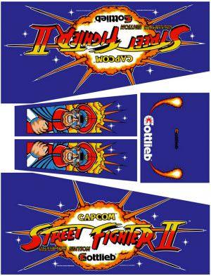 Street Fighter Pinball Cabinet Decals Flipper Side Art