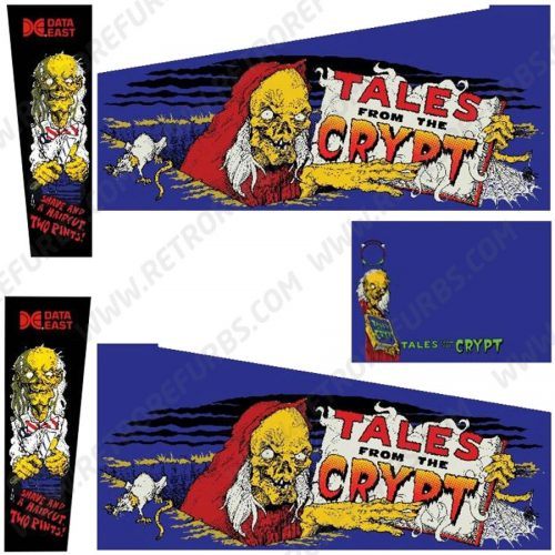 Tales From The Crypt Pinball Cabinet Decals Flipper Side Art