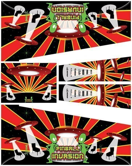 Invasion Virtual Pinball Cabinet Art Decals