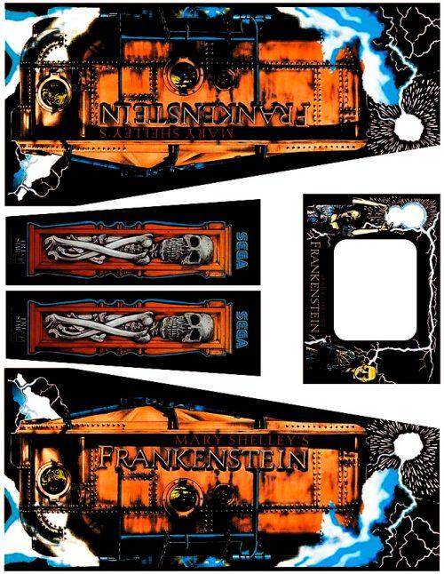 Frankenstein Pinball Cabinet Decals