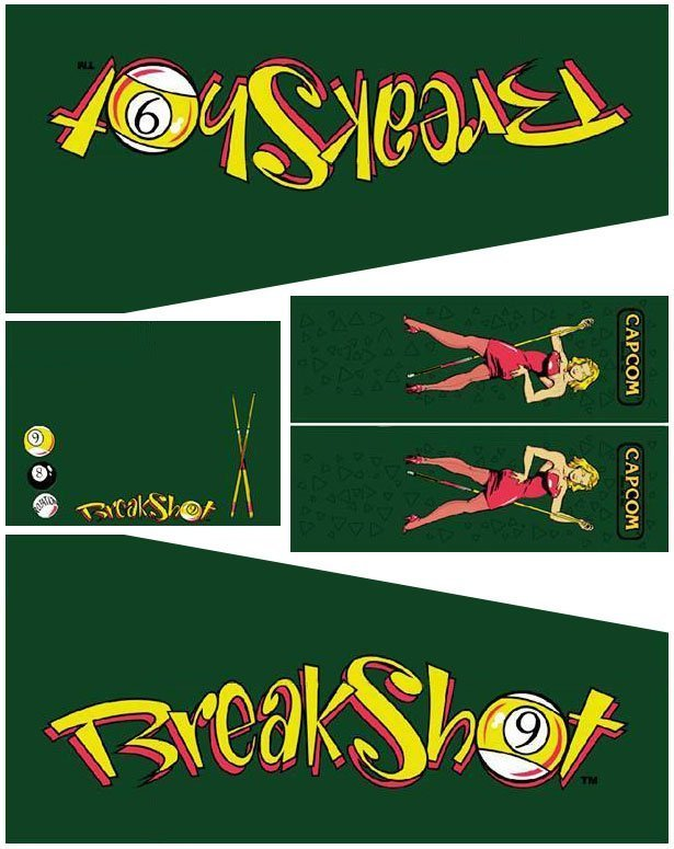 Breakshot Pinball Cabinet Decals Flipper
