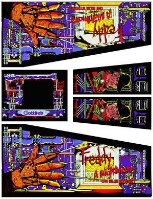 Freddy Nightmare On Elm Street Pinball Cabinet Decals